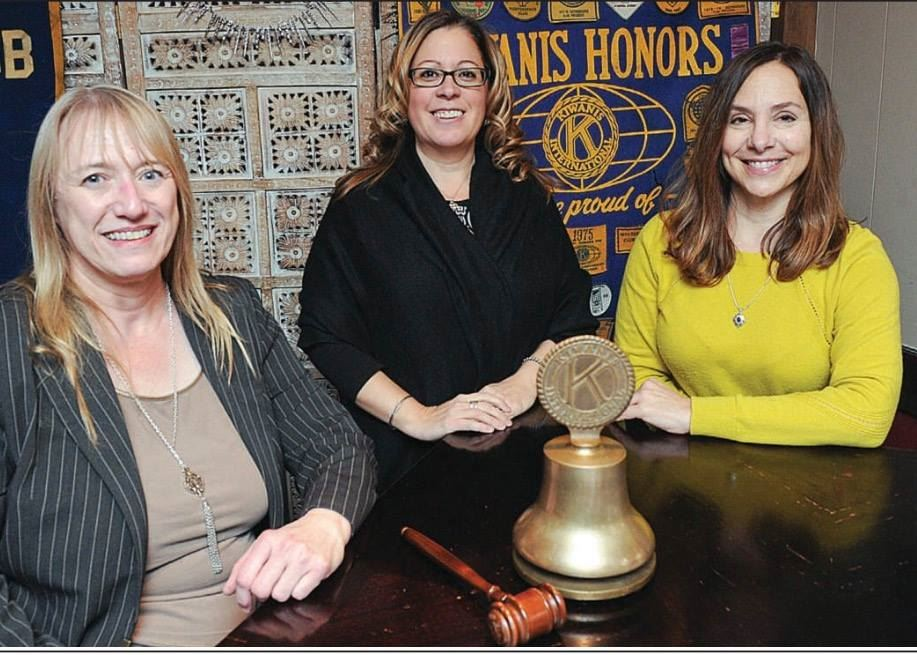 CSIU's Mary Mingle and Karla Procopio pose with Lisa Makara of the Bloomsburg Kiwanis