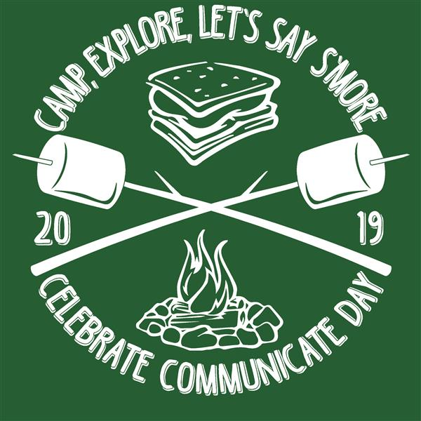 CC Day Logo: Camp, Explore, Let's Say S'More