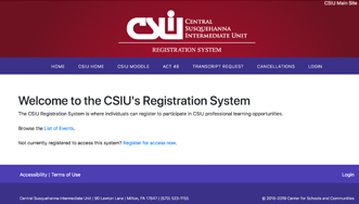 Image of registration website