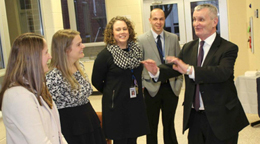 Administrators at LCCC's Greater Susquehanna Center open house