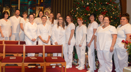 LPN graduates smiling for the camera