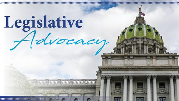 PA Capitol building with the words Legislative Advocacy
