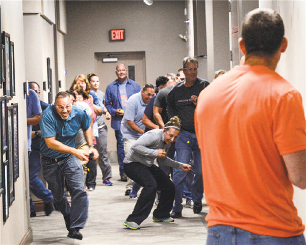 Active shooter training image